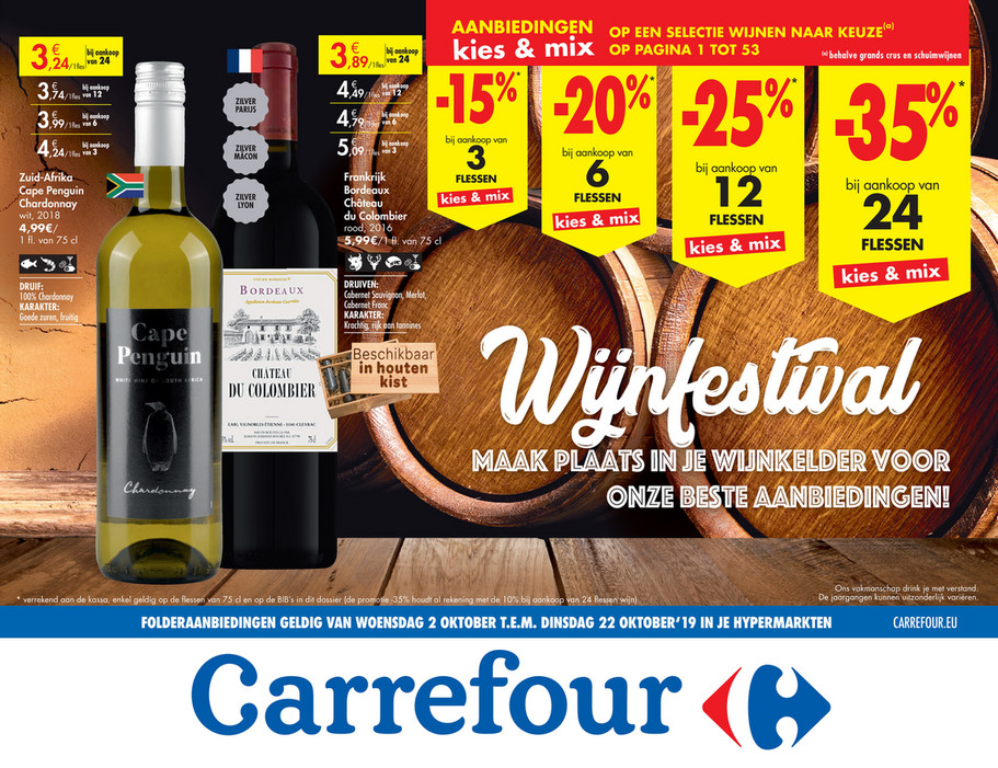 Carrefour folder van 02/10/2019 tot 22/10/2019 - Weekpromoties 40b