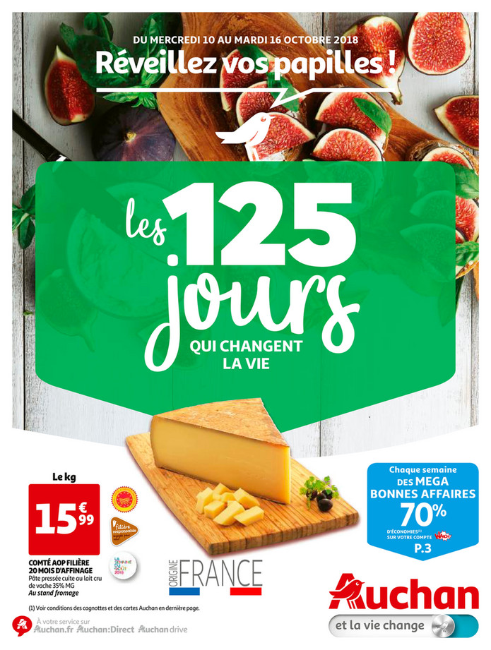 Auchan folder van 10/10/2018 tot 16/10/2018 - 125 jours vert