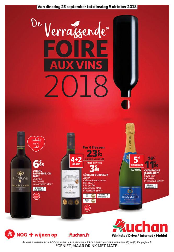 Auchan folder van 25/09/2018 tot 09/10/2018 - Wijnfestival