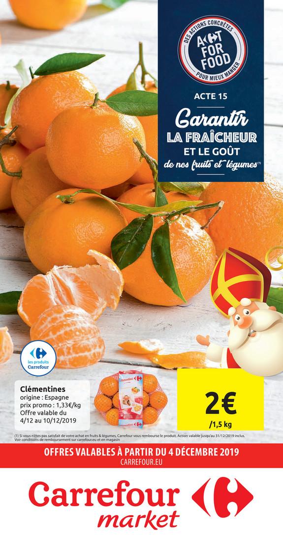 Folder Carrefour Market du 04/12/2019 au 15/12/2019 - Promotions de la semaine 49