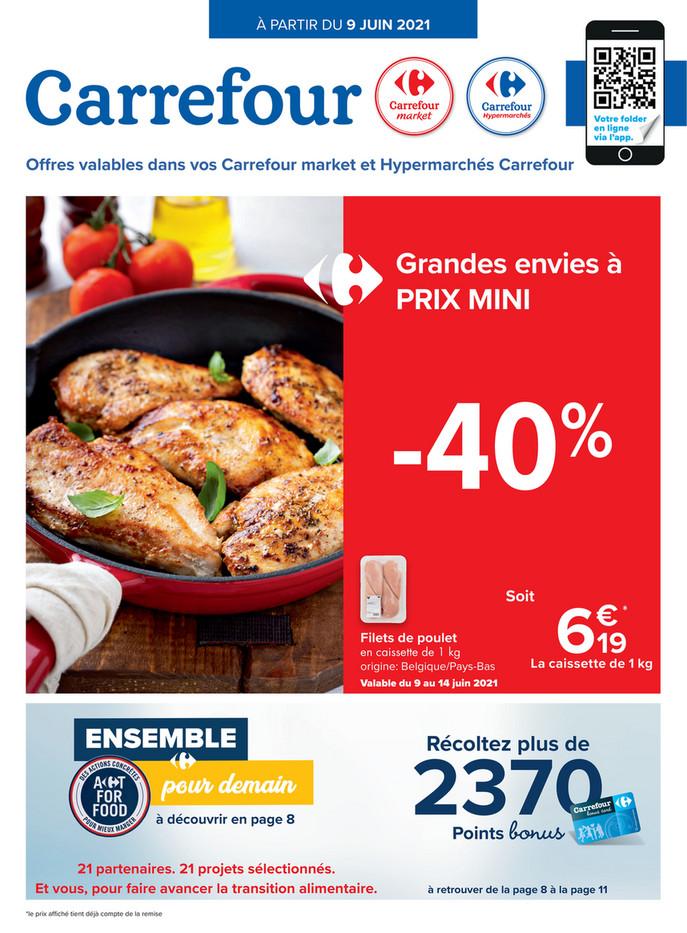 Folder Carrefour Market du 09/06/2021 au 21/06/2021 - Promotions de la semaine 23