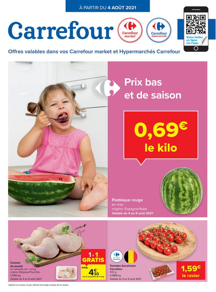 Folder Carrefour Market du 04/08/2021 au 09/08/2021 - Promotions de la semaine 31