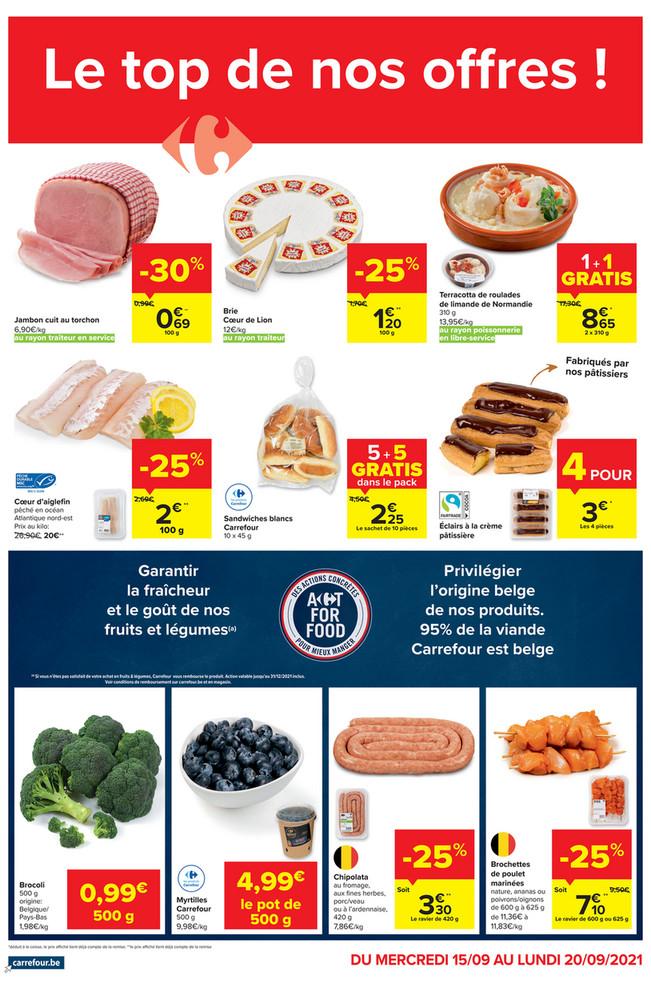 Folder Carrefour Market du 15/09/2021 au 20/09/2021 - Promotions de la semaine 37