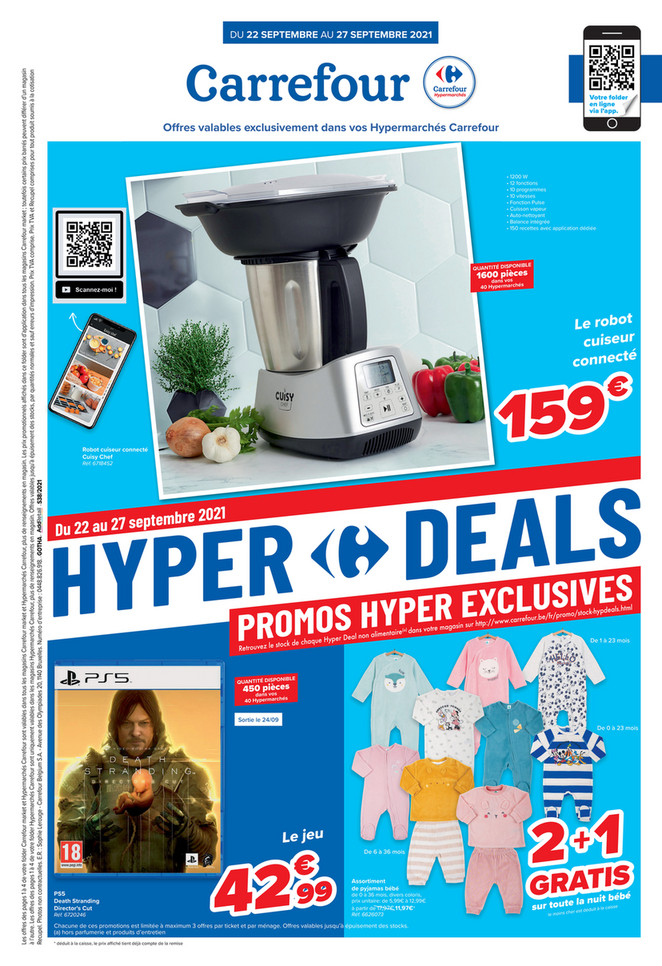Folder Carrefour Market & Hypermaché  du 22/09/2021 au 27/09/2021 - Promotions de la semaine 38