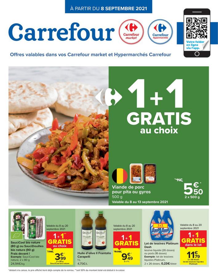 Folder Carrefour Market du 10/09/2021 au 20/09/2021 - Promotions de la semaine 36 2