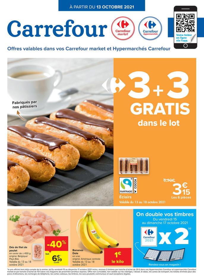 Folder Carrefour Market & Hypermaché  du 13/10/2021 au 18/10/2021 - Promotions de la semaine 41