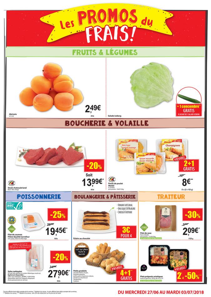 Folder Carrefour Market du 20/06/2018 au 01/07/2018 - Carrefour Market Frais