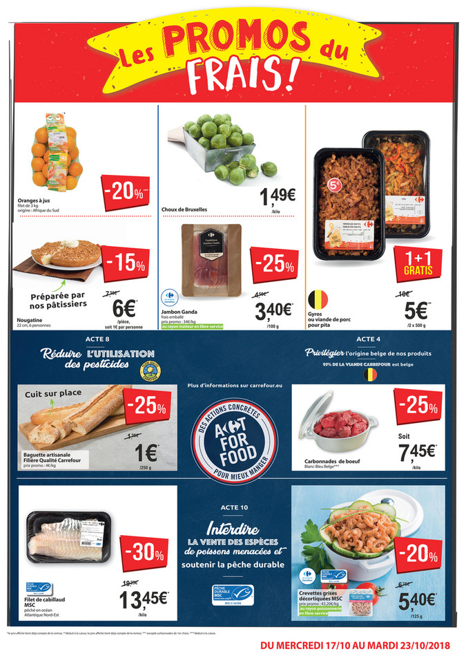 Folder Carrefour Market du 17/10/2018 au 23/10/2018 - Promotions de la semaine 42