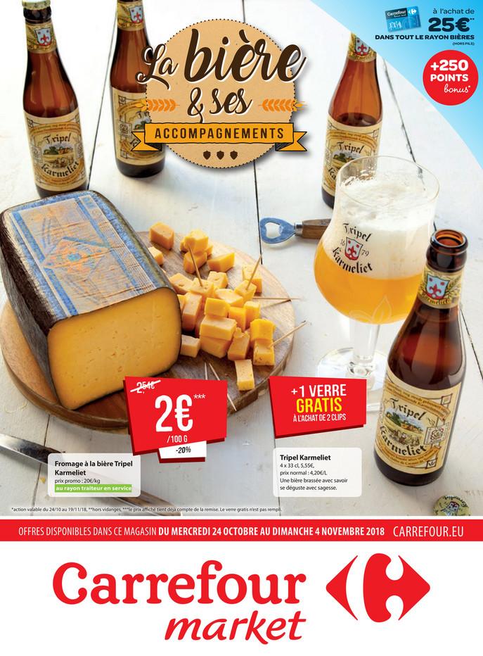 Folder Carrefour Market du 23/10/2018 au 04/11/2018 - Promotions de la semaine 43 - bière