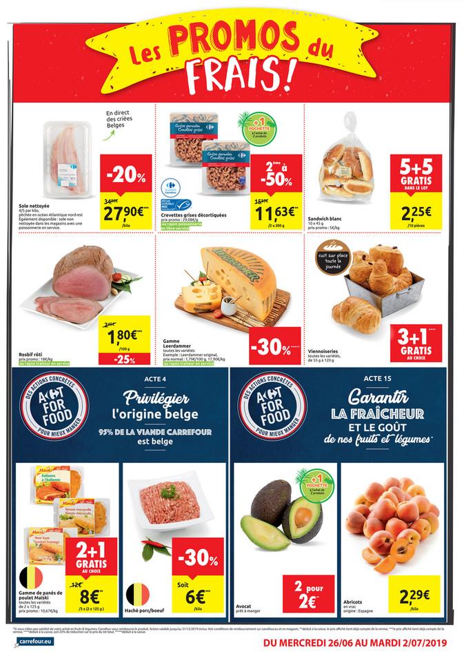 Folder Carrefour Market du 26/06/2019 au 02/07/2019 - Promotions de la semaine 26