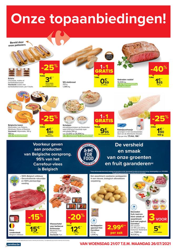 Carrefour Market folder van 21/07/2021 tot 26/07/2021 - Weekpromoties 29