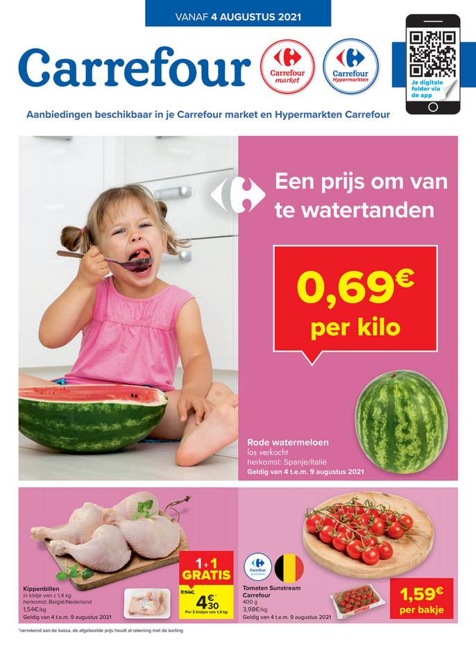 Carrefour Market folder van 04/08/2021 tot 09/08/2021 - Weekpromoties 31