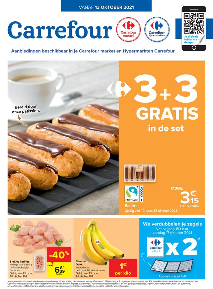 Carrefour Market & Hypermarkt  folder van 13/10/2021 tot 18/10/2021 - Promotions de la semaine 41