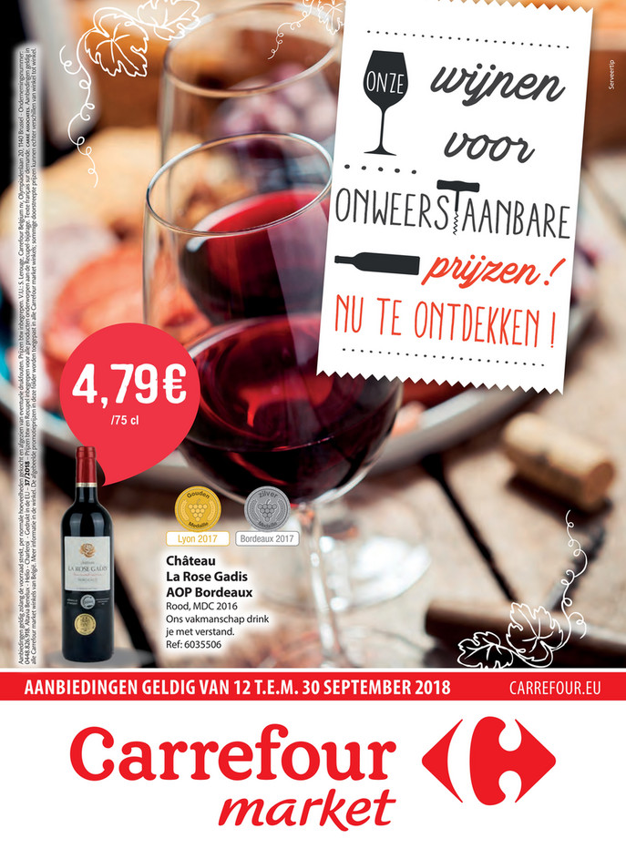 Carrefour Market folder van 12/09/2018 tot 30/09/2018 - Weekpromoties 37