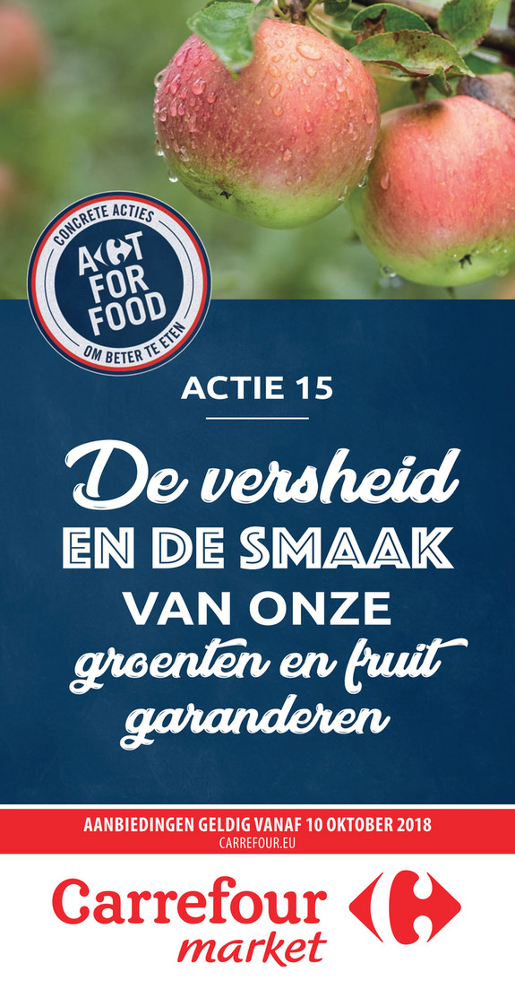 Carrefour Market folder van 10/10/2018 tot 21/10/2018 - Appel