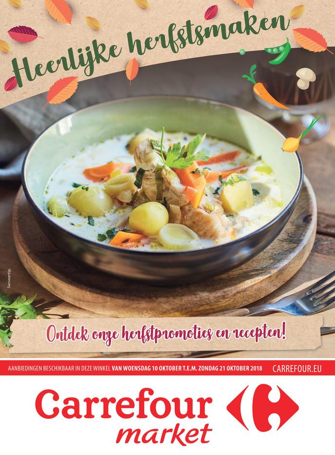 Carrefour Market folder van 10/10/2018 tot 21/10/2018 - Herfst