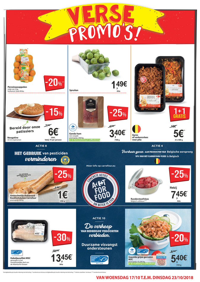 Carrefour Market folder van 17/10/2018 tot 23/10/2018 - Weekpromoties 42