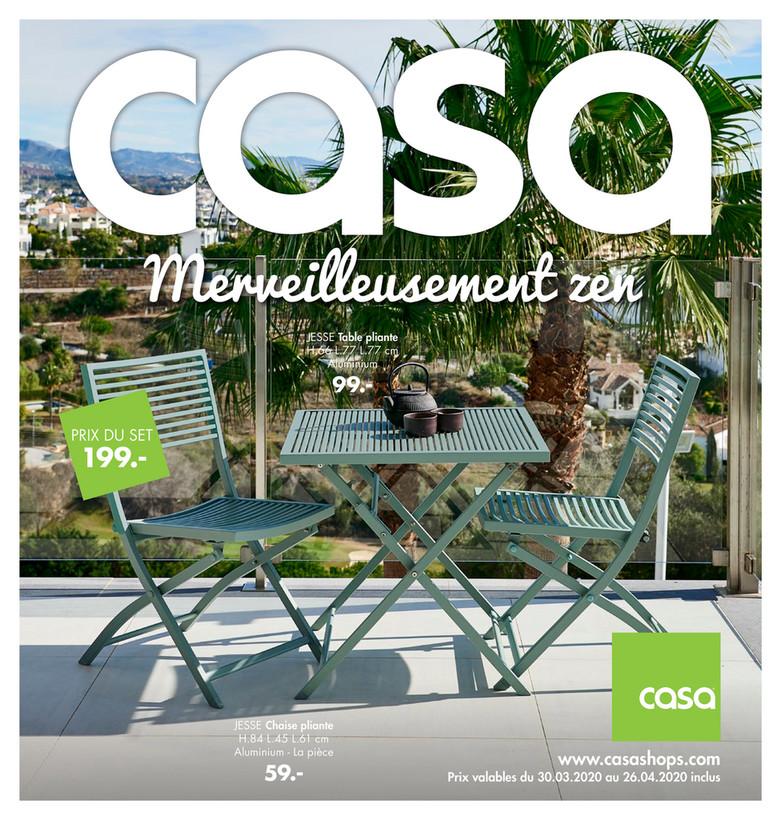 Folder Casa du 30/03/2020 au 26/04/2020 - Promotions du mois d'avril