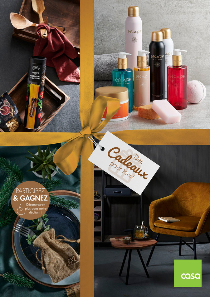 Folder Casa du 23/11/2020 au 31/12/2020 - Promotions du mois cadeaux