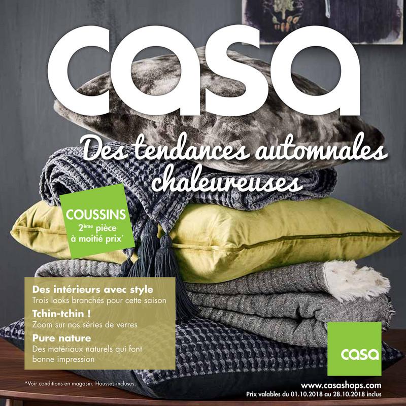 Folder Casa du 01/10/2018 au 28/10/2018 - Promotions du mois