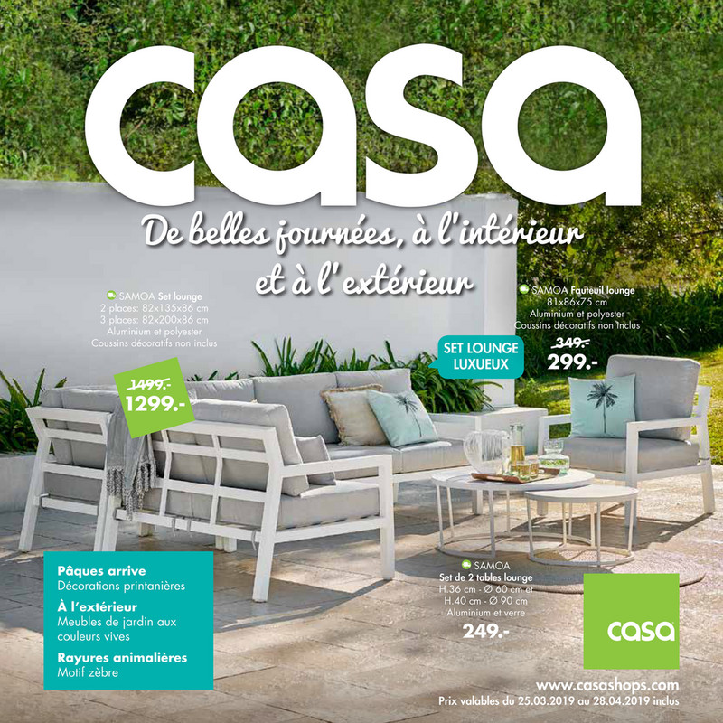Folder Casa du 25/02/2019 au 28/04/2019 - Promotions du mois Avril