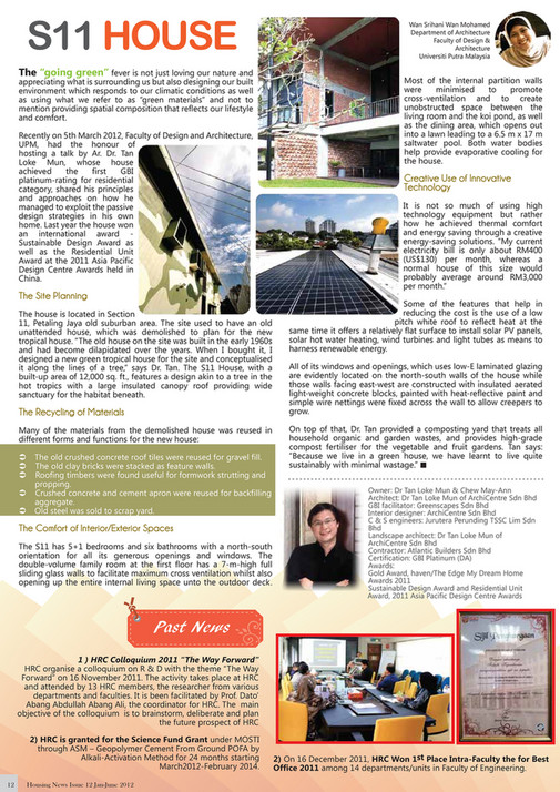Housing Research Centre Universiti Putra Malaysia Newsletter Housing News Issue 12 Page 4 5 Created With Publitas Com