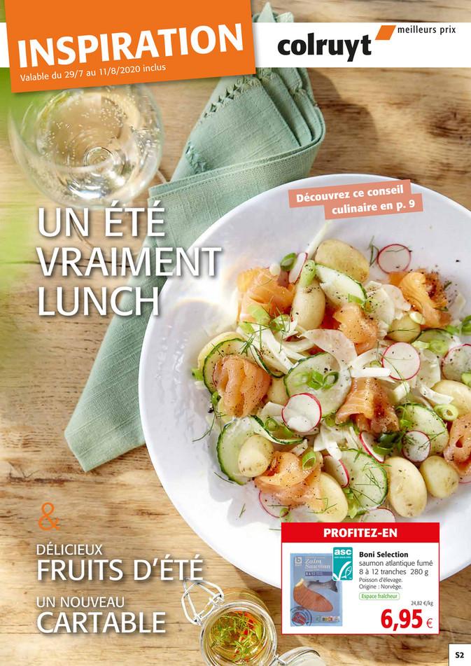 Promotions de la semaine 32 lunch
