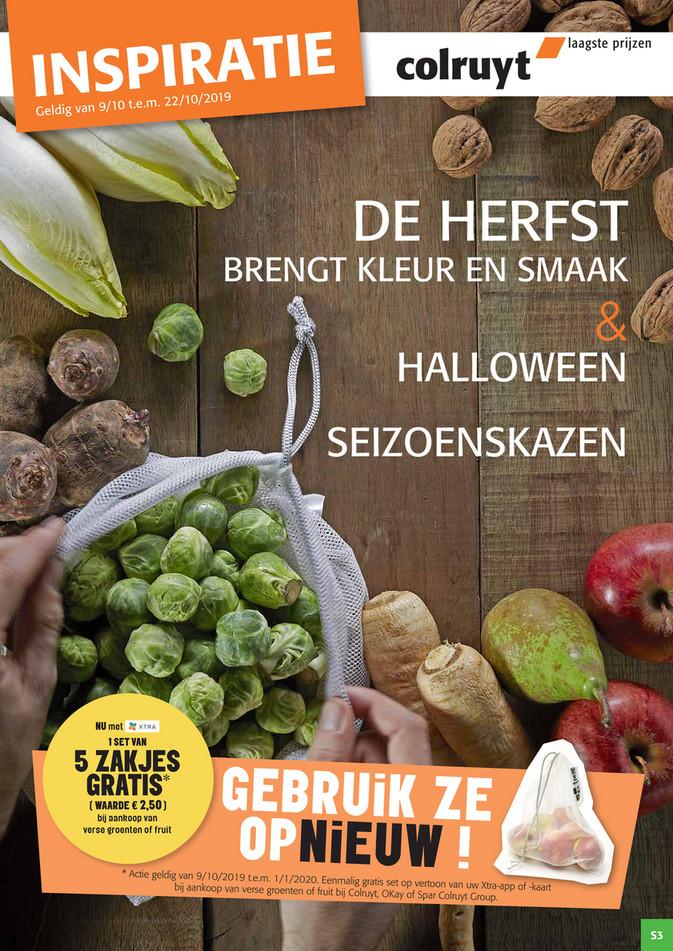 Colruyt folder van 09/10/2019 tot 22/10/2019 - Herfstgroenten