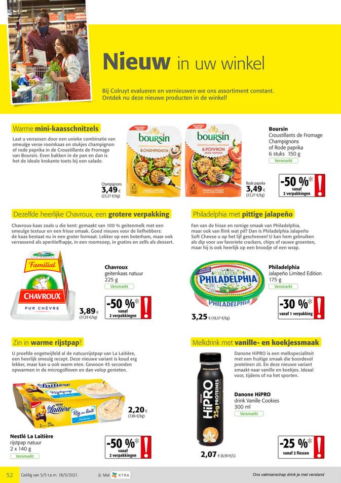 Colruyt folder van 05/05/2021 tot 18/05/2021 - Weekpromoties 18 nieuwe producten