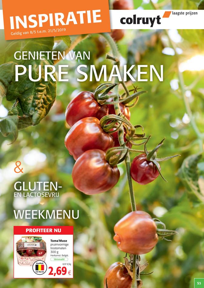 Colruyt folder van 08/05/2019 tot 21/05/2019 - Pure smaken