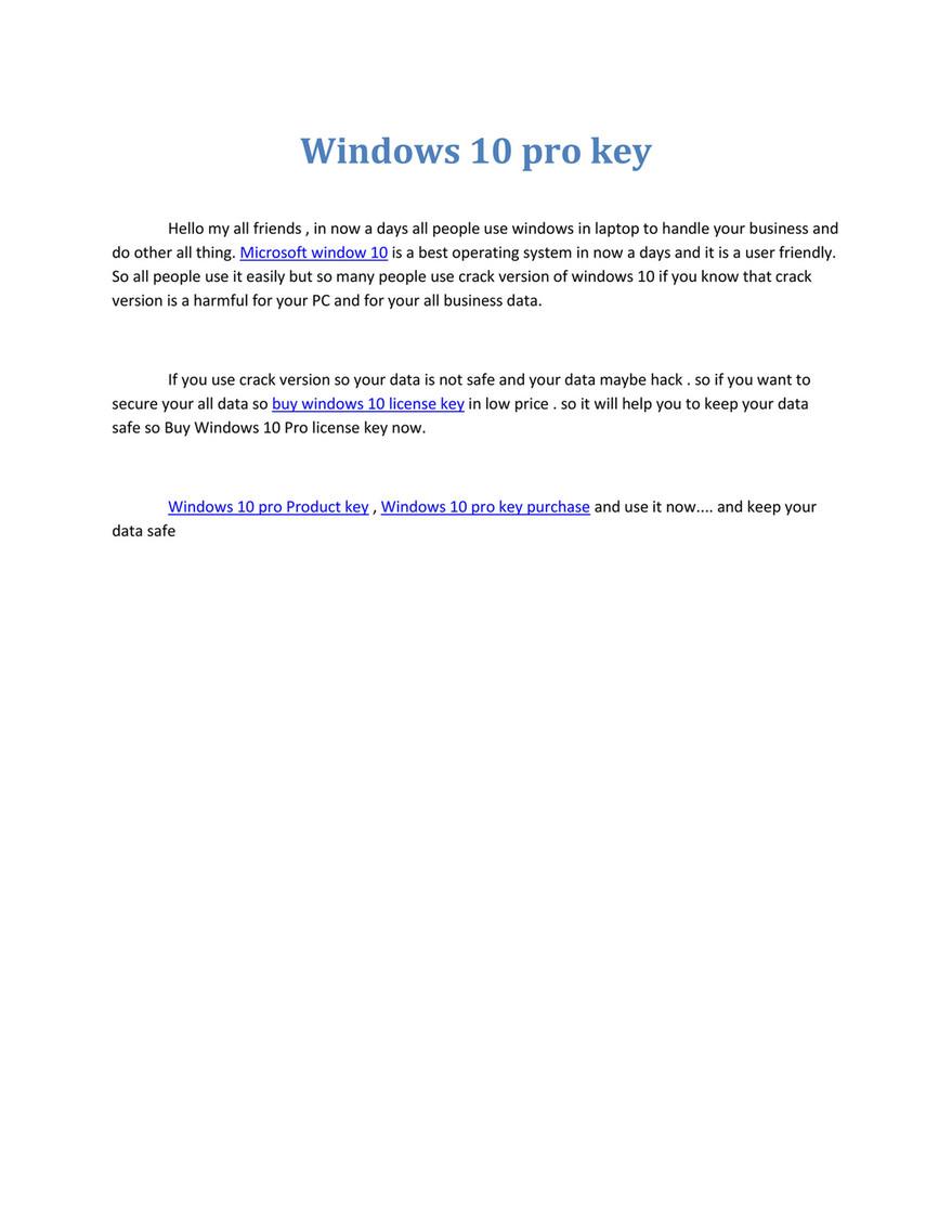 license windows 10 pro crack