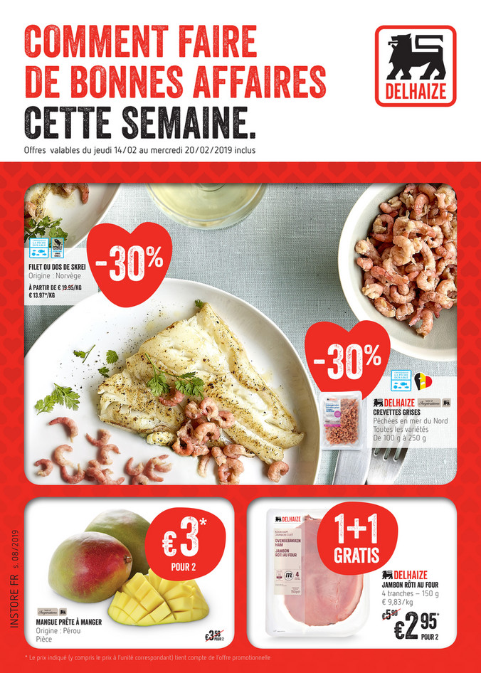 Folder Delhaize du 18/02/2019 au 20/02/2019 - Promotions de la semaine 8