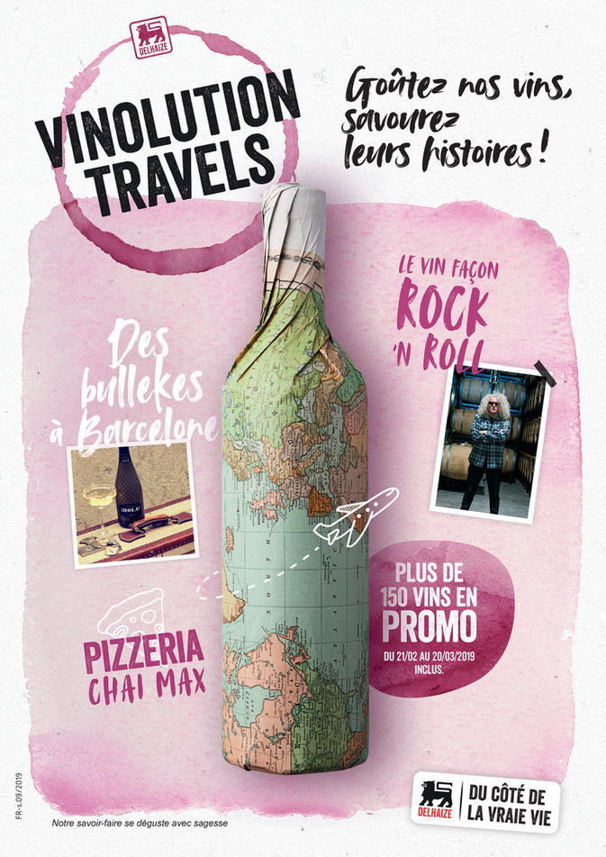 Folder Delhaize du 21/02/2019 au 20/03/2019 - Vinolution travels