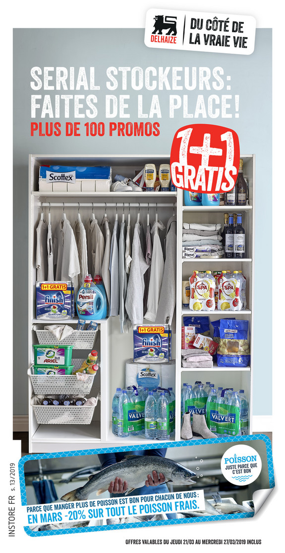 Folder Delhaize du 21/03/2019 au 27/03/2019 - Promotions de la semaine 13