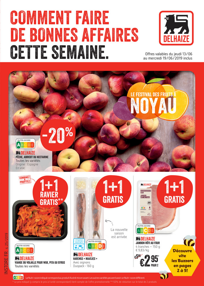 Folder Delhaize du 13/06/2019 au 19/06/2019 - Promotions de la semaine 25