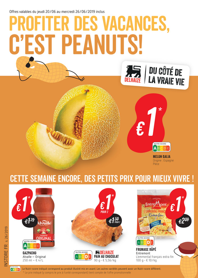 Folder Delhaize du 20/06/2019 au 26/06/2019 - Promotions de la semaine 26