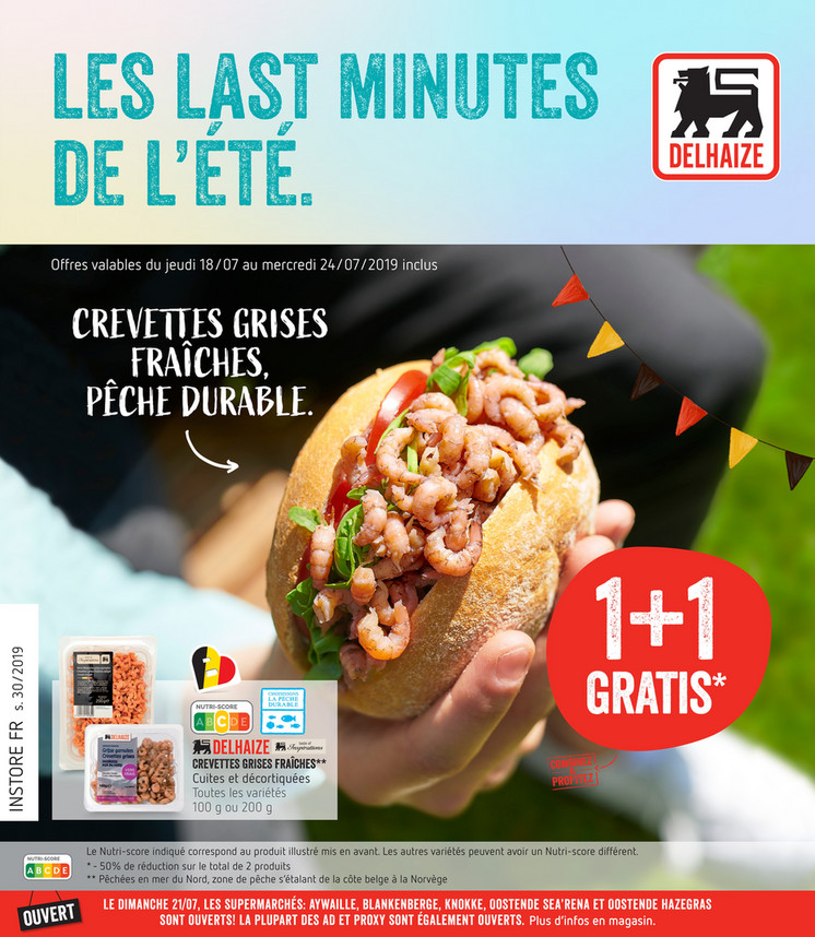 Folder Delhaize du 18/07/2019 au 24/07/2019 - Promotions de la semaine 30