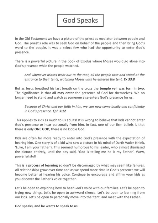 common ground church - Hearing God booklet - Page 1