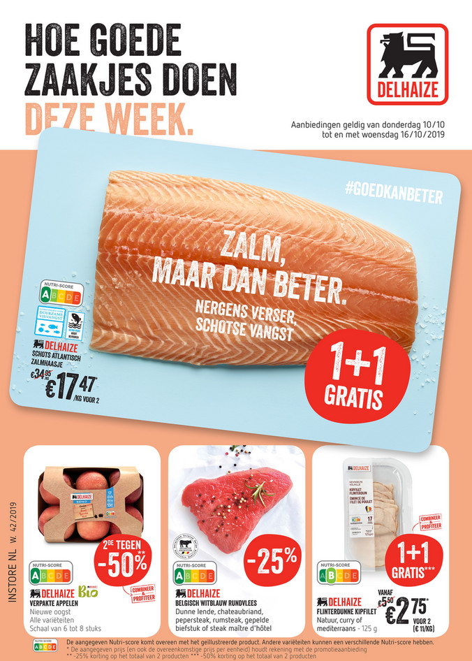 Delhaize folder van 10/10/2019 tot 16/10/2019 - Weekpromoties 42