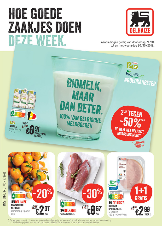 Delhaize folder van 24/10/2019 tot 30/10/2019 - Weekpromoties 44