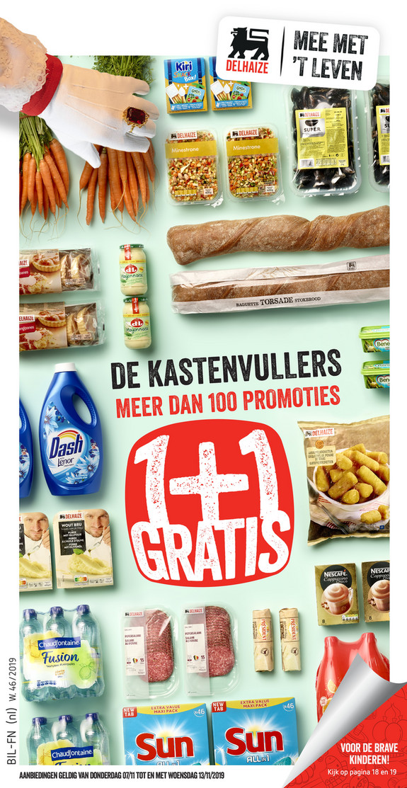 Delhaize folder van 07/11/2019 tot 13/11/2019 - Weekpromoties 46