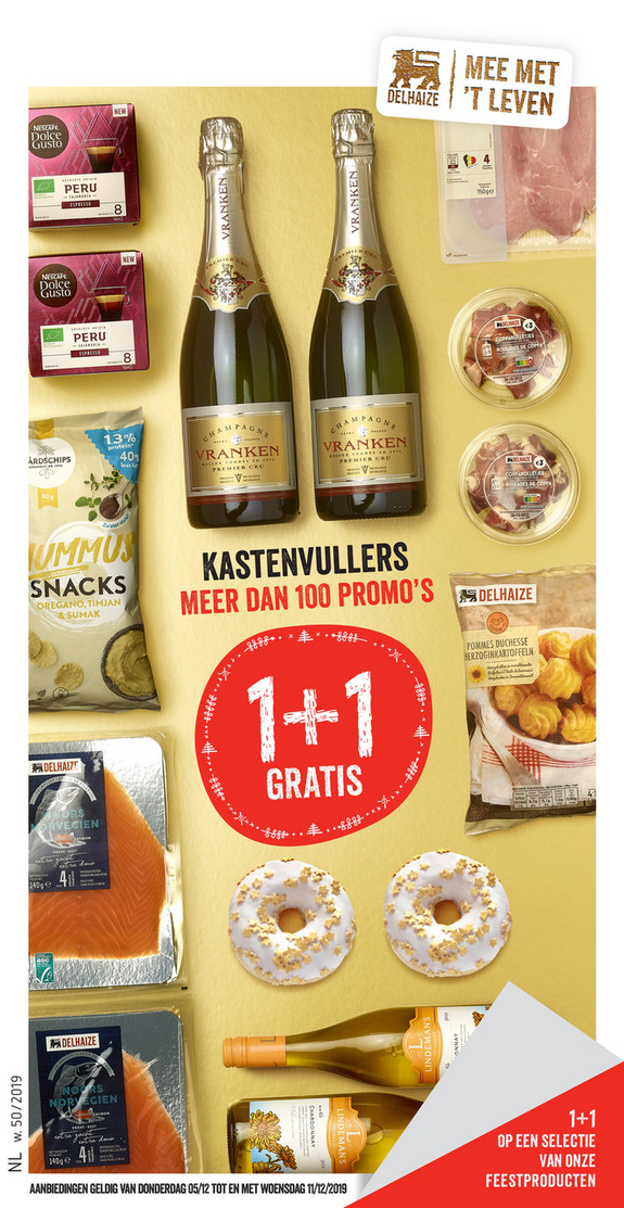 Delhaize folder van 05/12/2019 tot 11/12/2019 - Weekpromoties 50