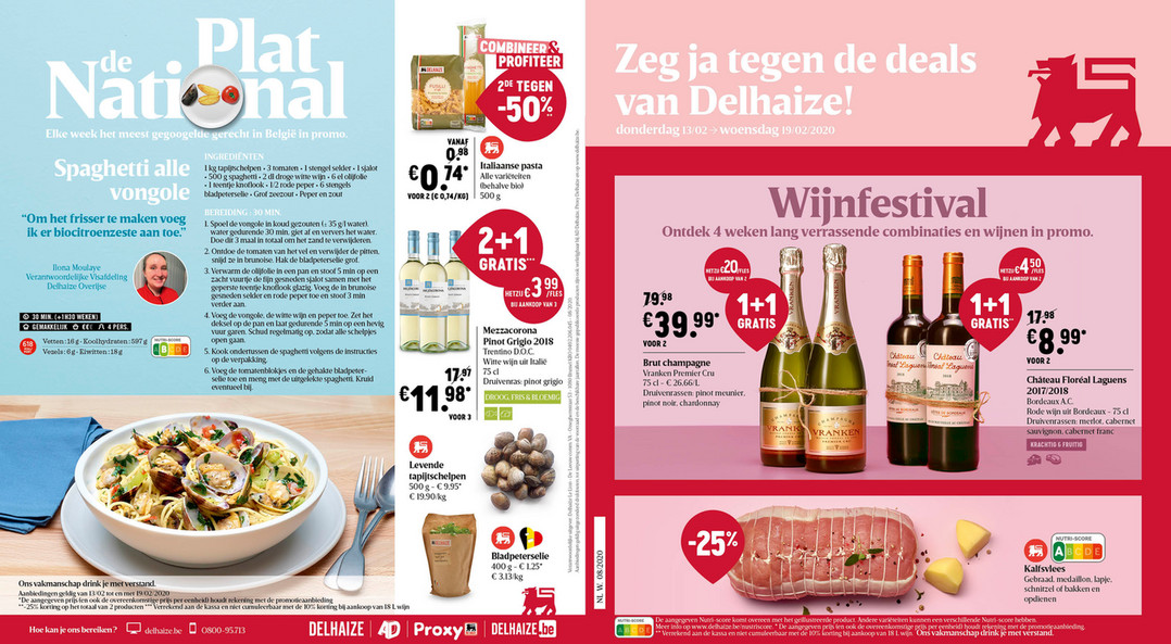 Delhaize folder van 14/02/2020 tot 19/02/2020 - Weekpromoties 08