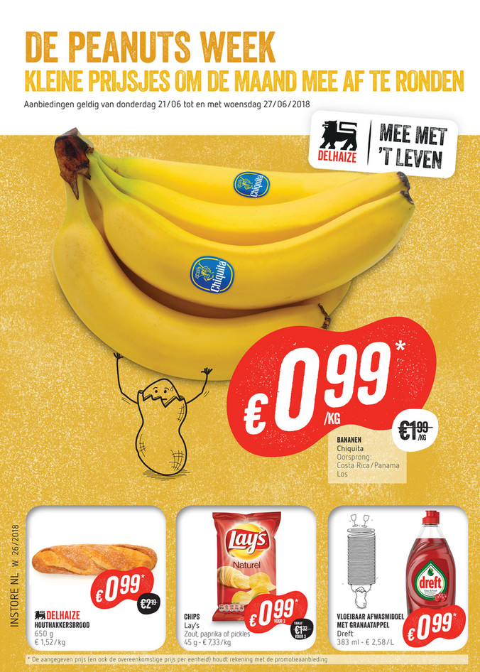 Delhaize folder van 21/06/2018 tot 27/06/2018 - AD Delhaize banaan
