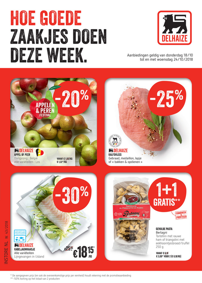 Delhaize folder van 18/10/2018 tot 24/10/2018 - Weekpromoties 43