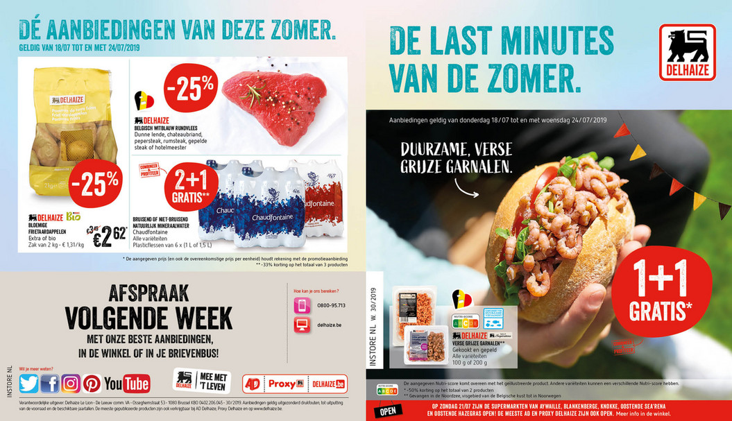Delhaize folder van 18/07/2019 tot 24/07/2019 - Weekpromoties 30