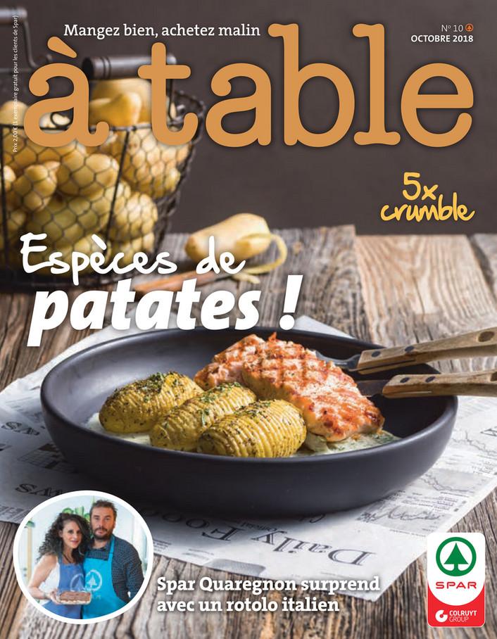 Folder Spar du 01/10/2018 au 31/10/2018 - Kook magazine