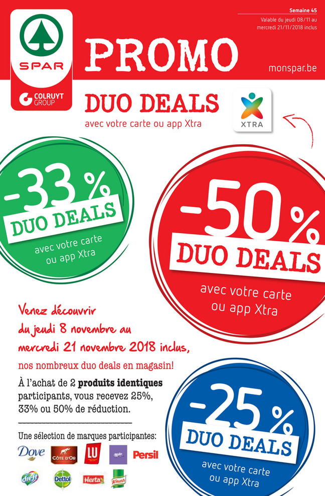 Folder Spar du 08/11/2018 au 21/11/2018 - promotions de la semaine 45