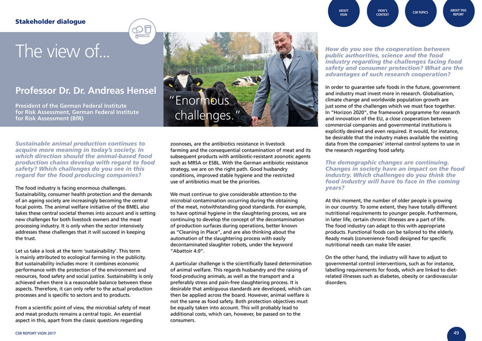 cfreport - VION CSR Report 2017 - Page 48