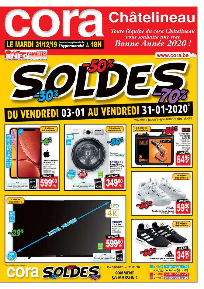 Folder Cora du 03/01/2020 au 31/01/2020 - Soldes - Chatelineau
